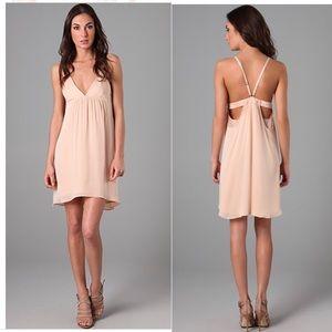 alice + olivia Demi Drape Back Flutter Dress peach